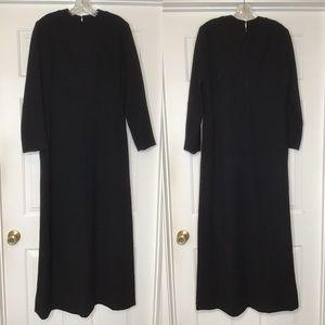 1970 Pauline Trigere Long Black Dress Esther Wolf